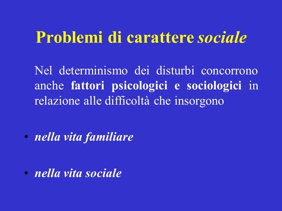 Problemi di carattere sociale