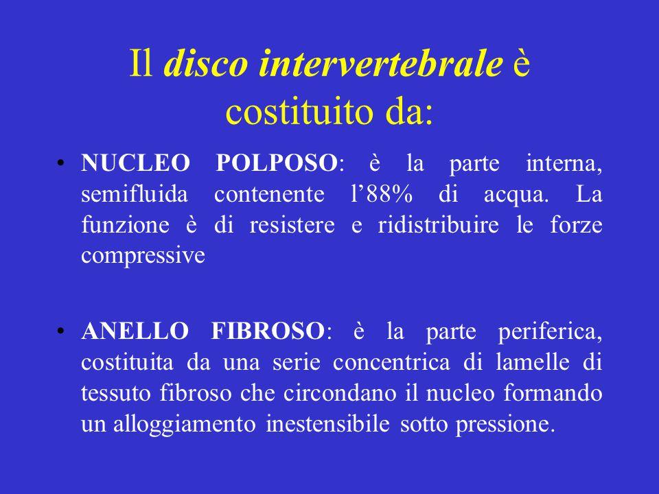 Il disco intervertebrale è costituito da: