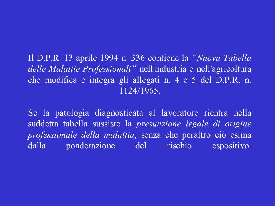Il D.P.R. 13 aprile 1994 n.