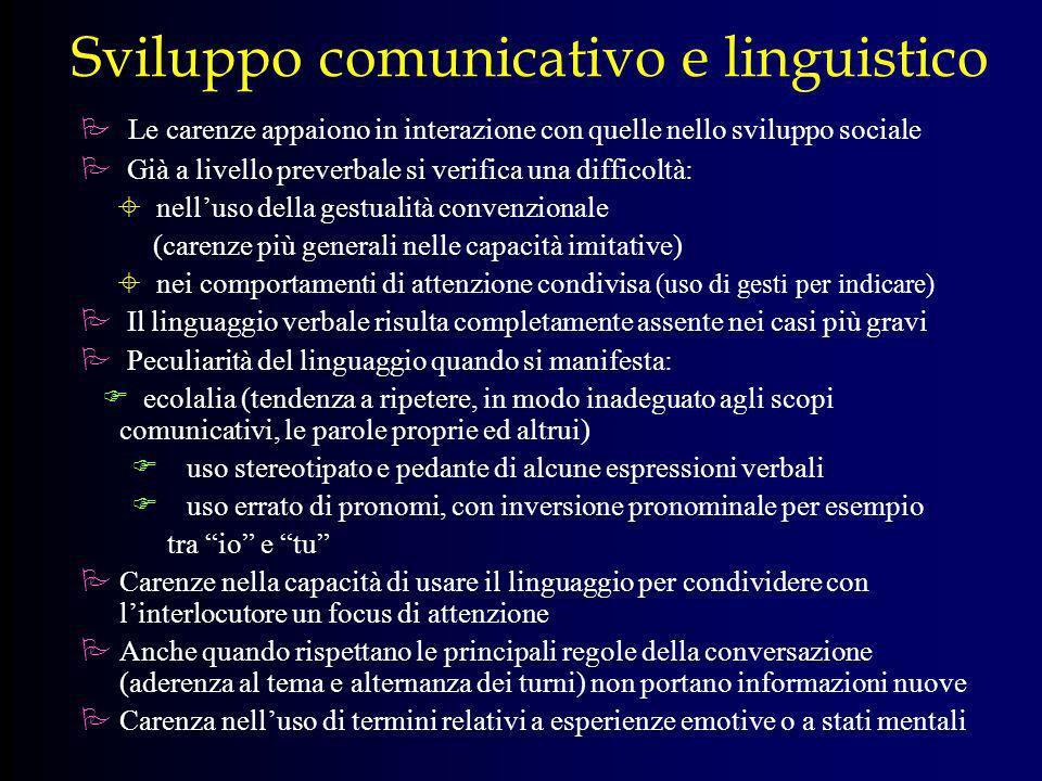 Sviluppo comunicativo e linguistico