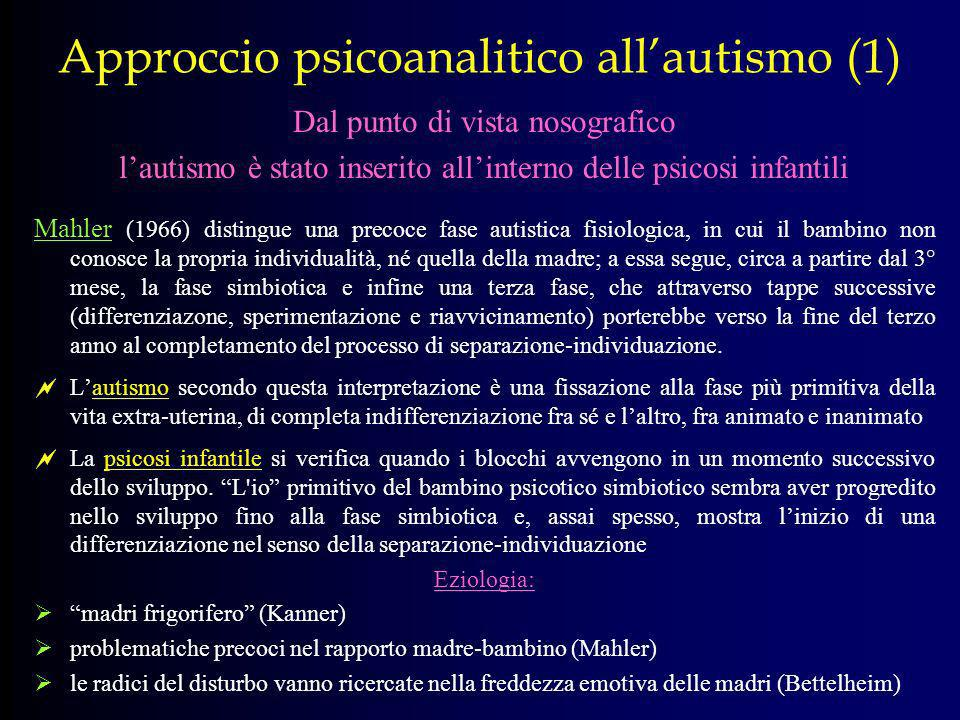 Approccio psicoanalitico all'autismo (1)