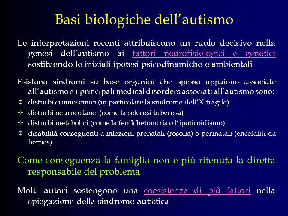 Basi biologiche dell'autismo
