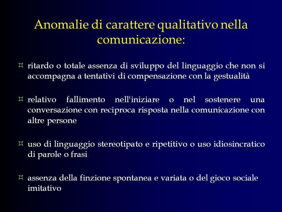 Anomalie di carattere qualitativo nella comunicazione: