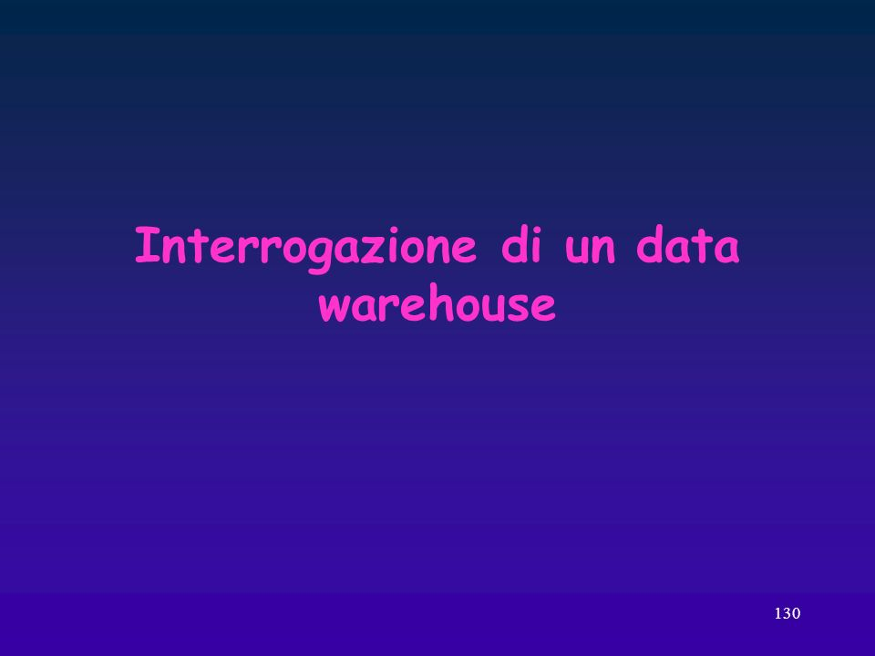 Interrogazione di un data warehouse