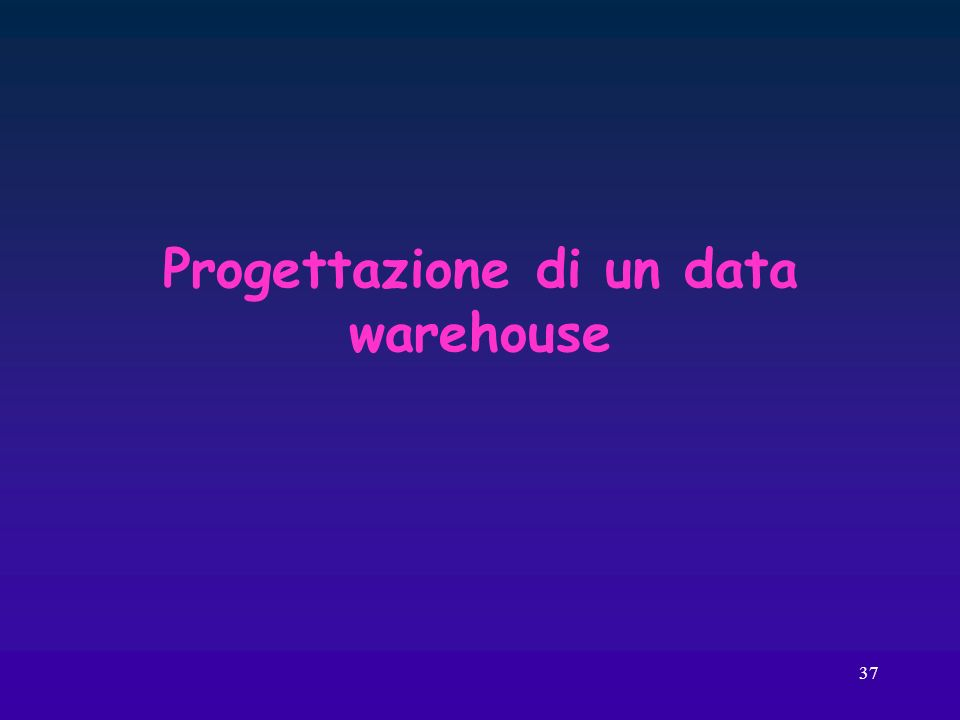 Progettazione di un data warehouse