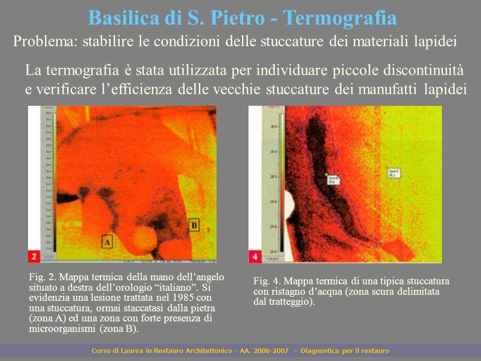 Basilica di S. Pietro - Termografia