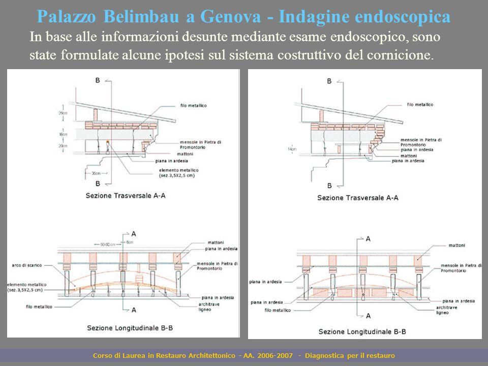 Palazzo Belimbau a Genova - Indagine endoscopica
