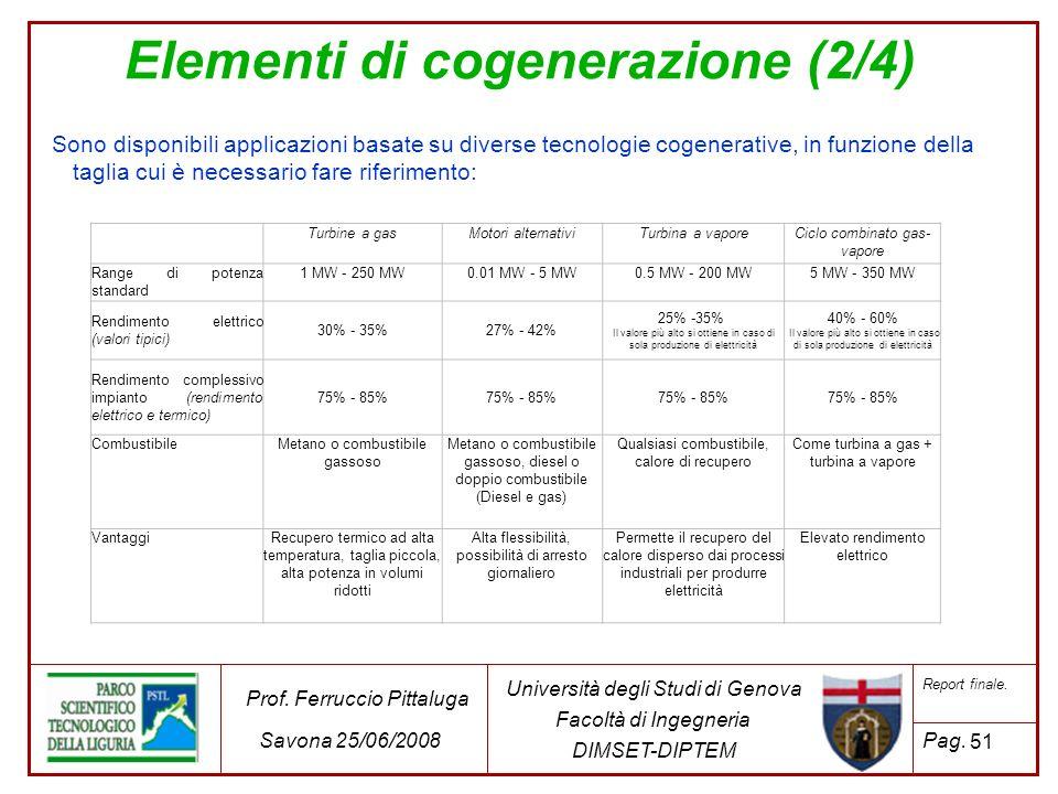 Elementi di cogenerazione (2/4)