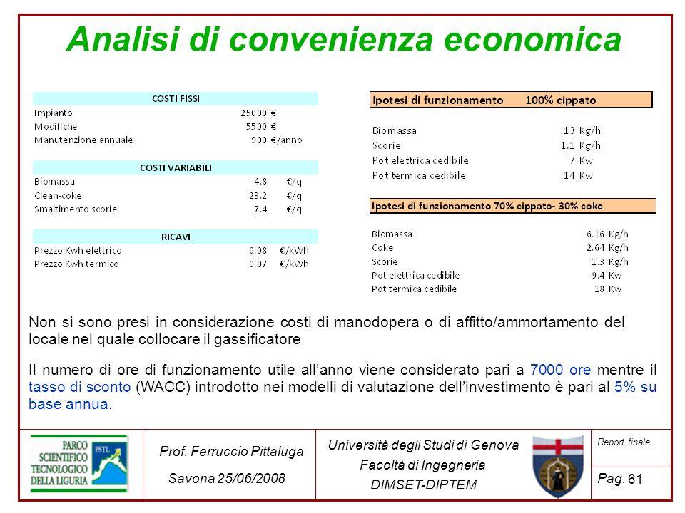 Analisi di convenienza economica