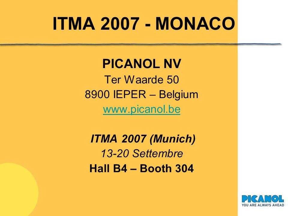 ITMA 2007 - MONACO PICANOL NV Ter Waarde 50 8900 IEPER – Belgium