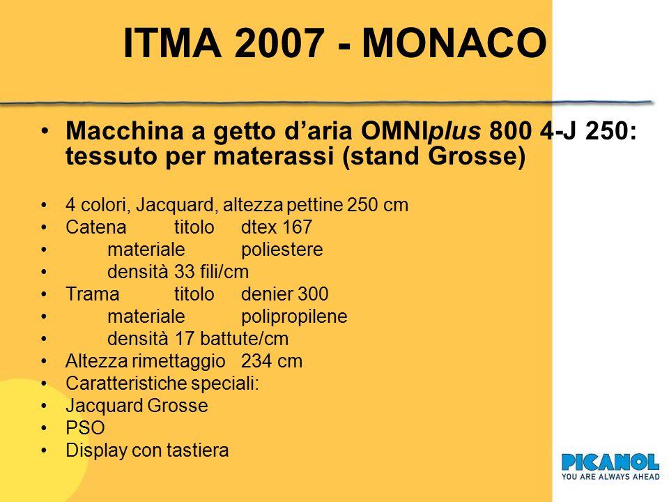 ITMA 2007 - MONACO Macchina a getto d'aria OMNIplus 800 4-J 250: tessuto per materassi (stand Grosse)