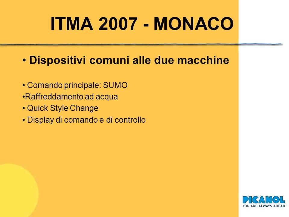 ITMA 2007 - MONACO Dispositivi comuni alle due macchine