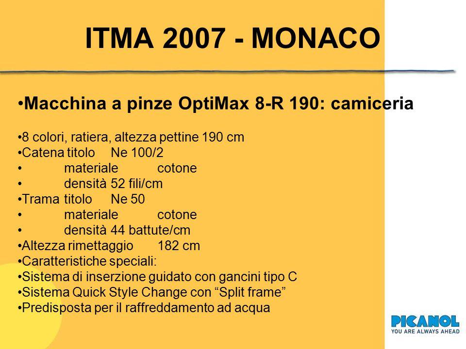 ITMA 2007 - MONACO Macchina a pinze OptiMax 8-R 190: camiceria