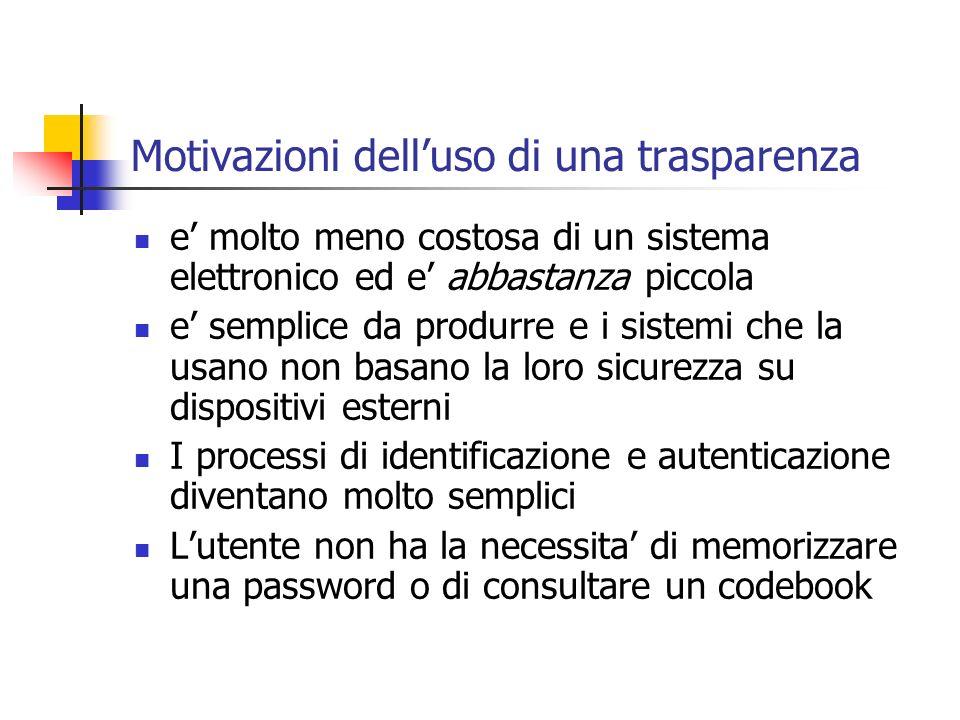 Motivazioni dell'uso di una trasparenza