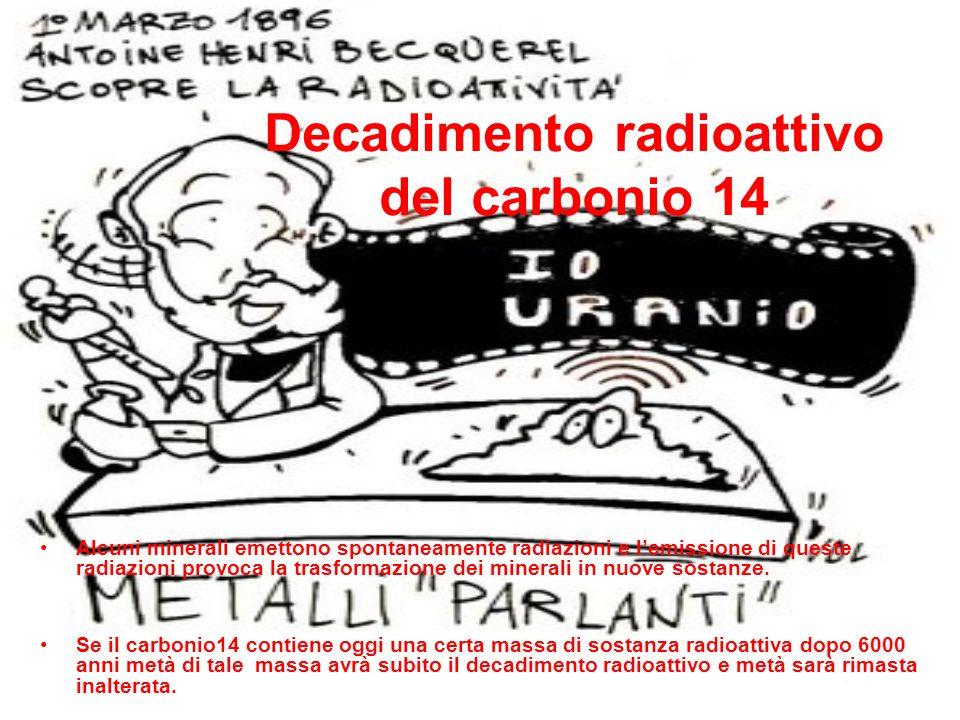 Decadimento radioattivo del carbonio 14