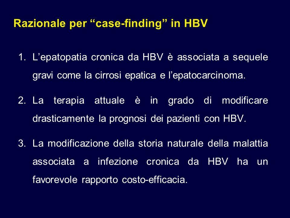 Razionale per case-finding in HBV