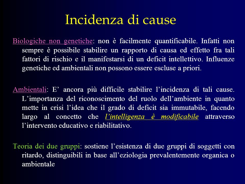 Incidenza di cause