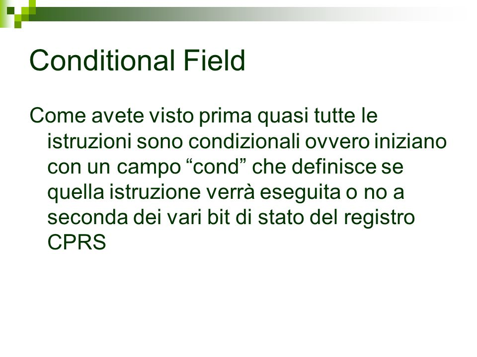 Conditional Field