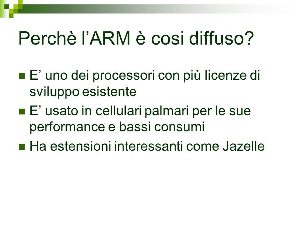 Perchè l'ARM è cosi diffuso