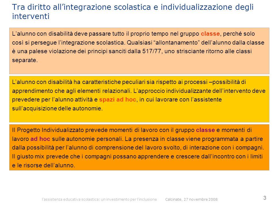 Tra diritto all'integrazione scolastica e individualizzazione degli interventi