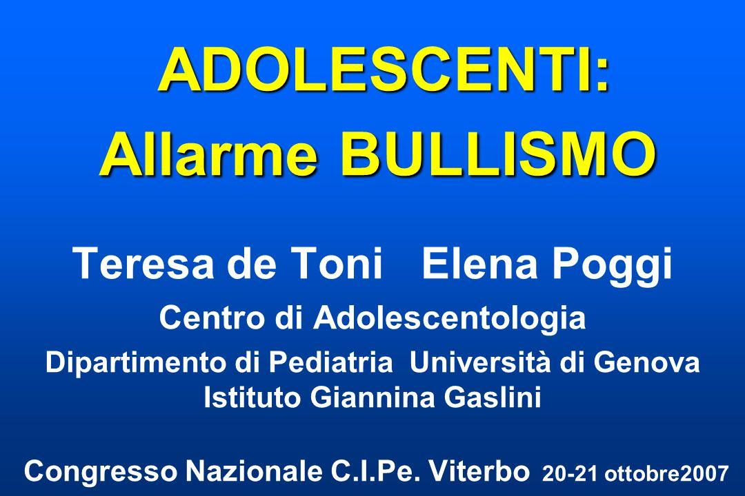 ADOLESCENTI: Allarme BULLISMO