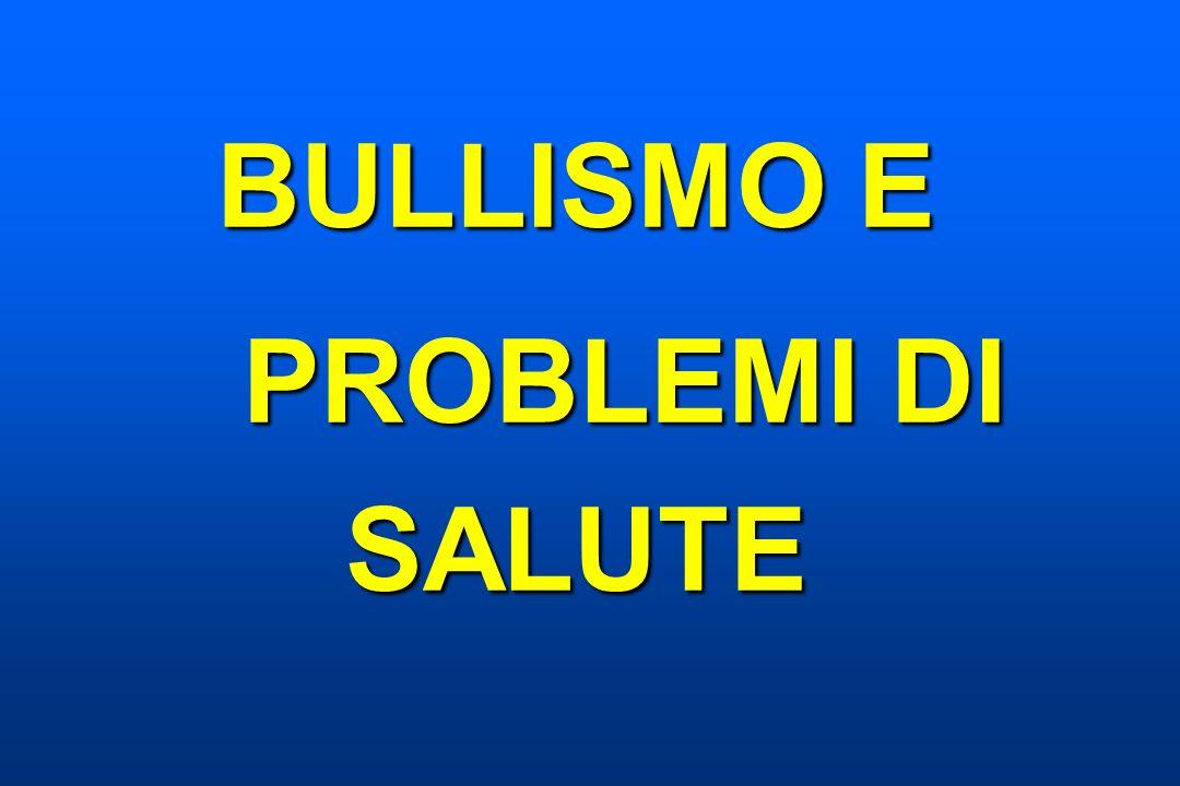BULLISMO E PROBLEMI DI SALUTE