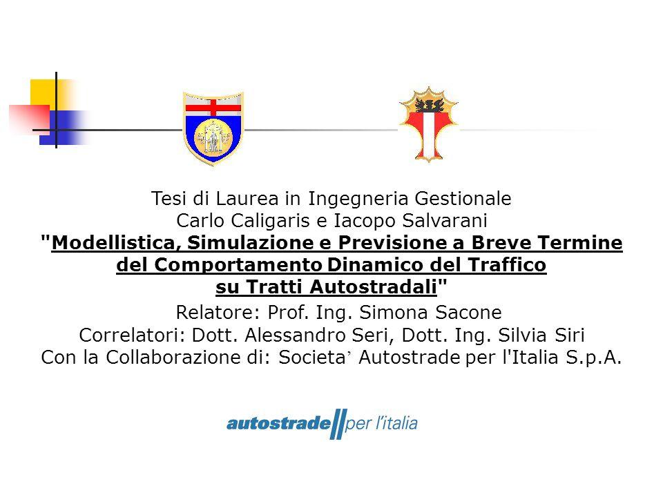 Relatore: Prof. Ing. Simona Sacone