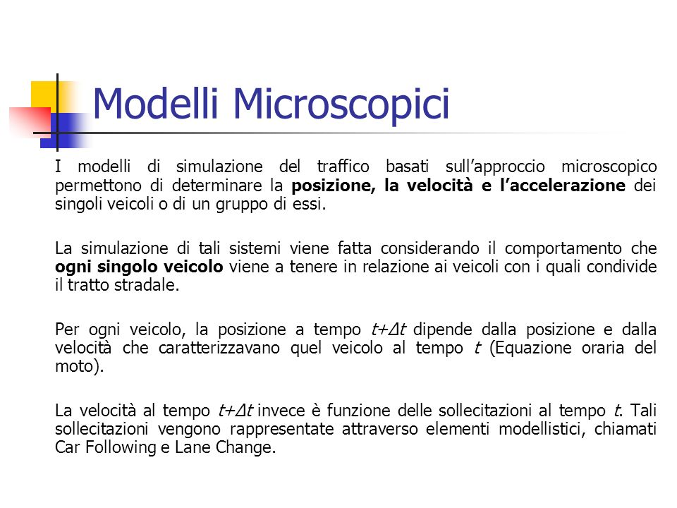 Modelli Microscopici