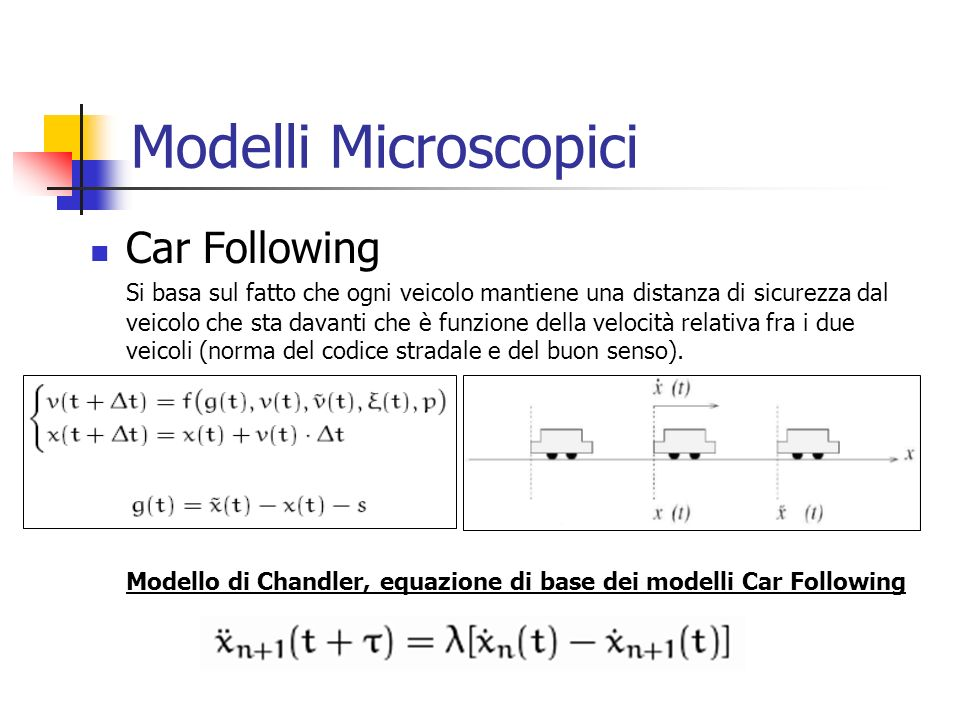 Modelli Microscopici Car Following