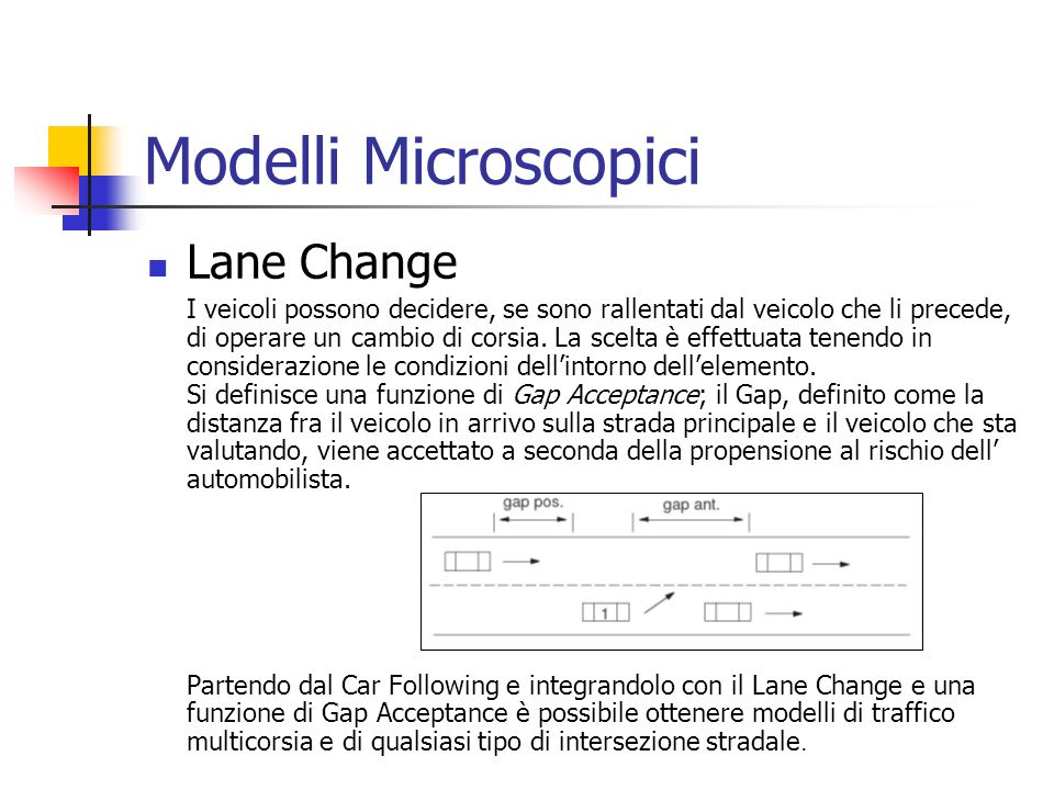 Modelli Microscopici Lane Change