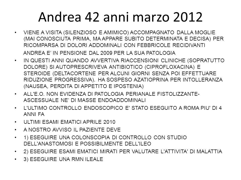 Andrea 42 anni marzo 2012