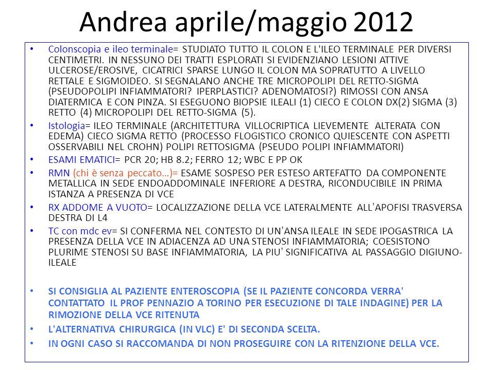 Andrea aprile/maggio 2012