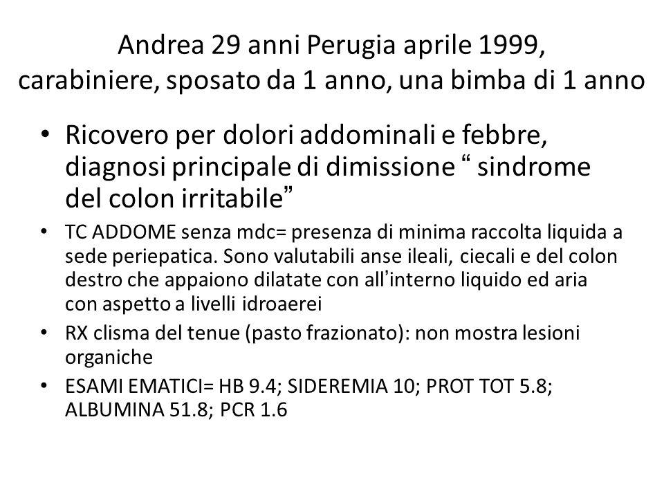 Andrea 29 anni Perugia aprile 1999, carabiniere, sposato da 1 anno, una bimba di 1 anno