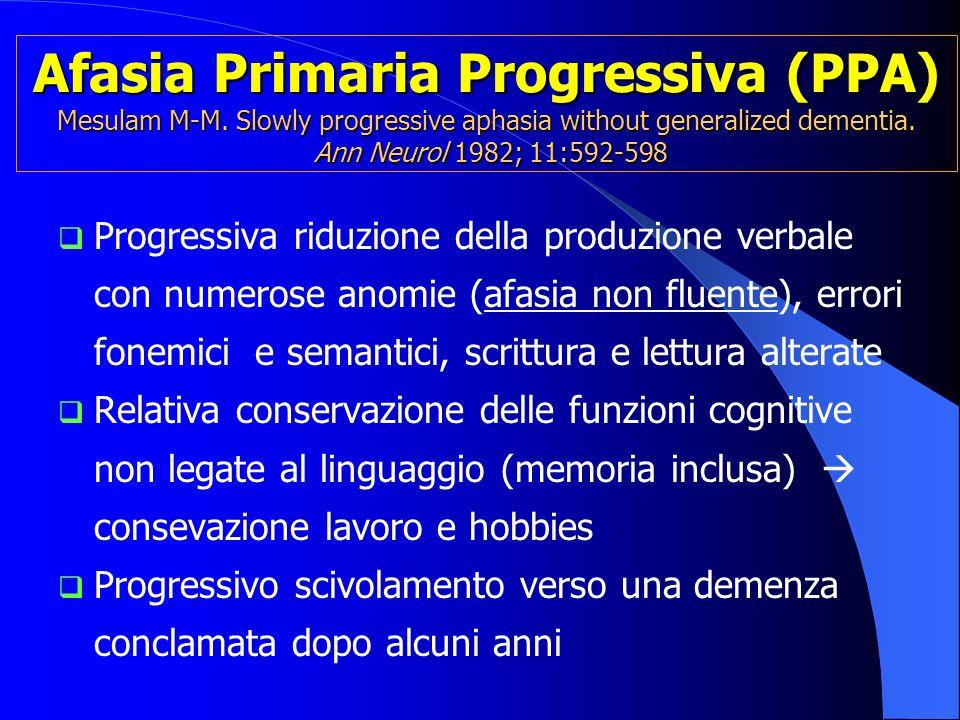 Afasia Primaria Progressiva (PPA) Mesulam M-M