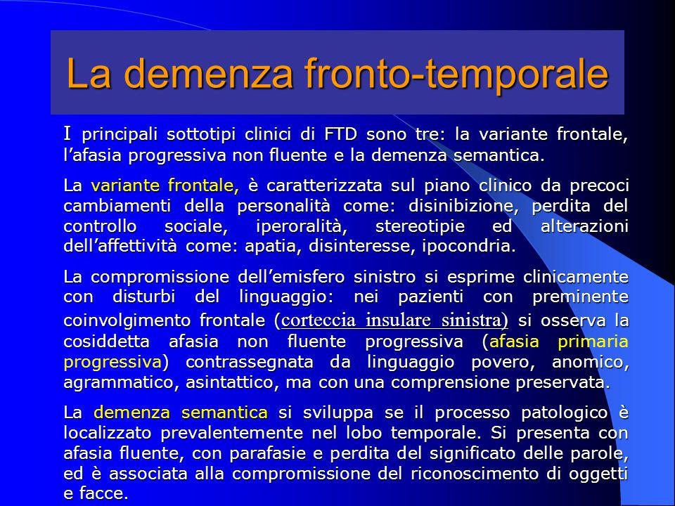 La demenza fronto-temporale