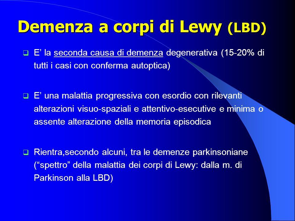 Demenza a corpi di Lewy (LBD)