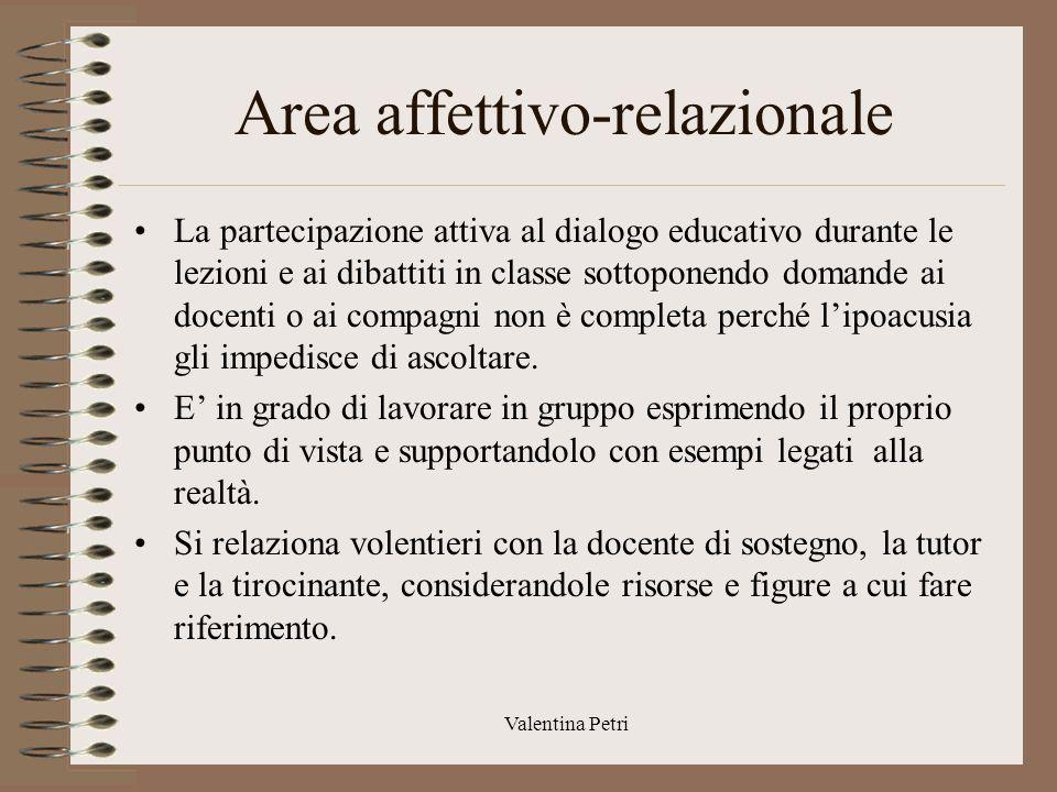 Area affettivo-relazionale