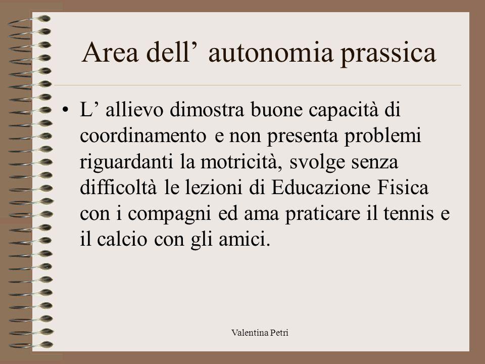 Area dell' autonomia prassica