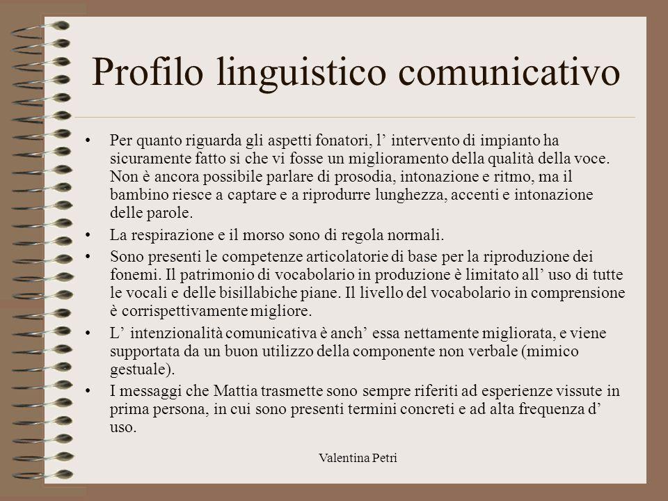 Profilo linguistico comunicativo