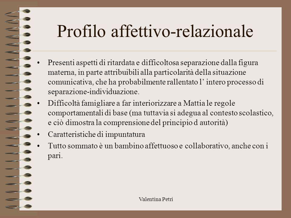 Profilo affettivo-relazionale