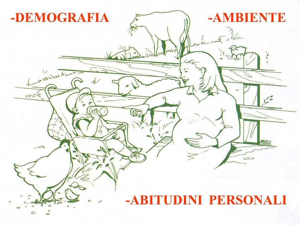 -DEMOGRAFIA -AMBIENTE -ABITUDINI PERSONALI