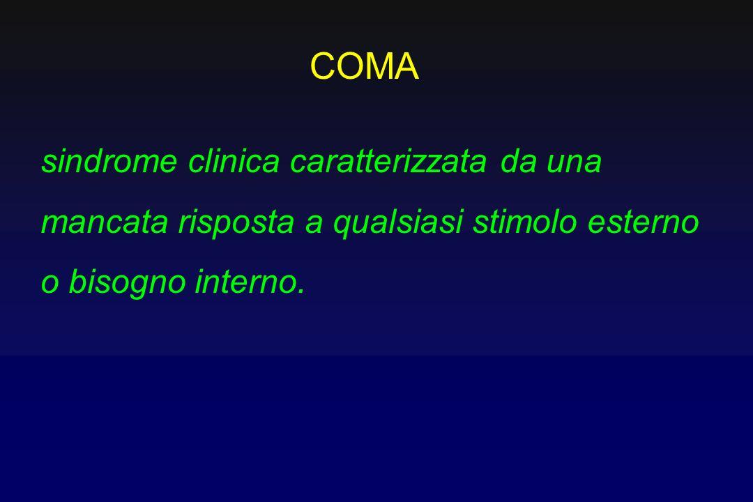COMAsindrome clinica caratterizzata da una mancata risposta a qualsiasi stimolo esterno o bisogno interno.