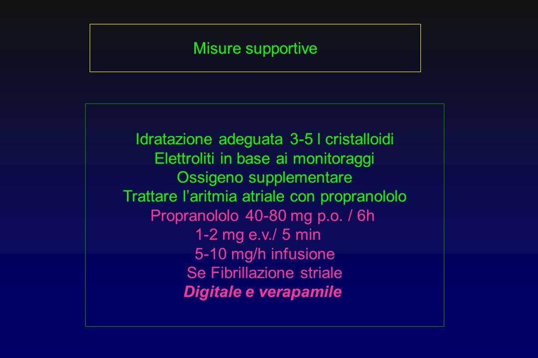 Idratazione adeguata 3-5 l cristalloidi