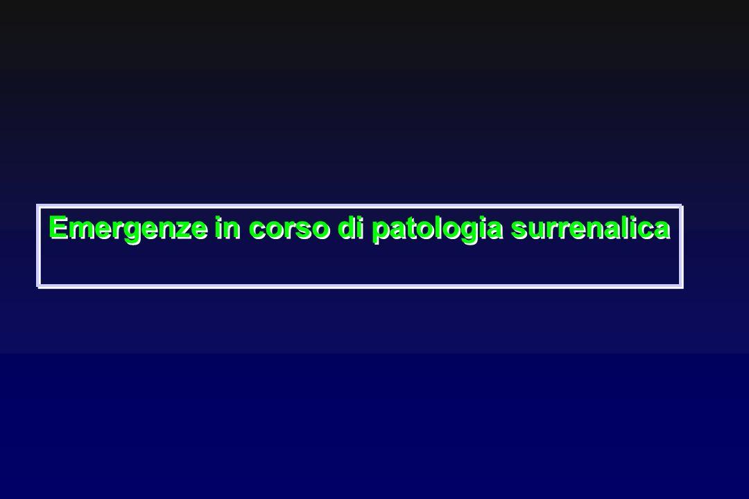 Emergenze in corso di patologia surrenalica
