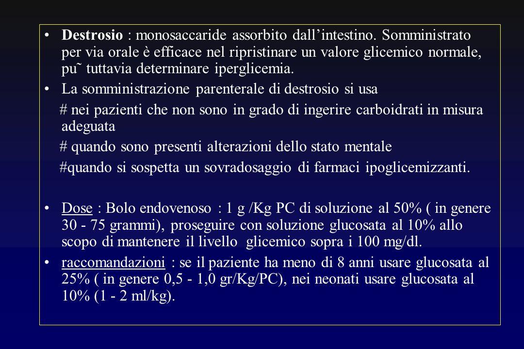 Destrosio : monosaccaride assorbito dall'intestino