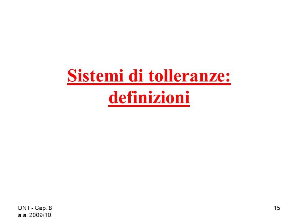 Sistemi di tolleranze: definizioni