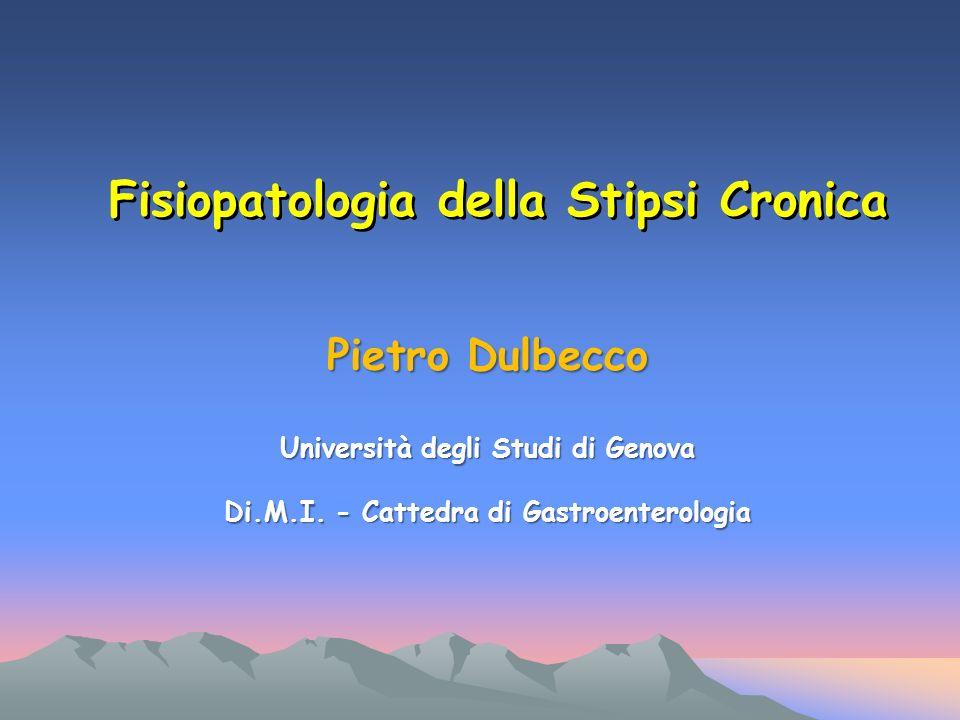 Fisiopatologia della Stipsi Cronica