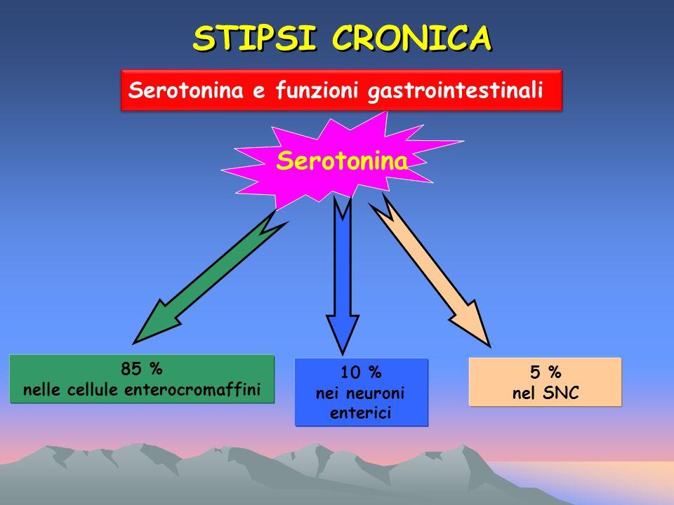 85 % nelle cellule enterocromaffini
