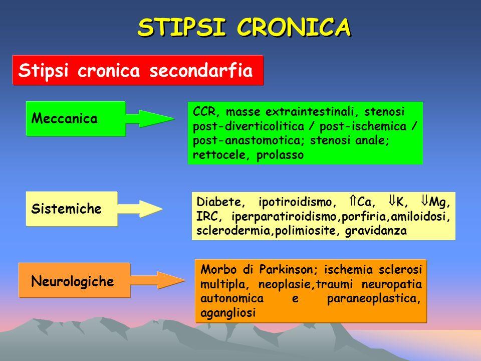 STIPSI CRONICA Stipsi cronica secondarfia Meccanica Sistemiche