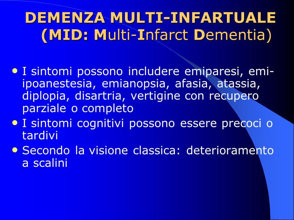 DEMENZA MULTI-INFARTUALE (MID: Multi-Infarct Dementia)